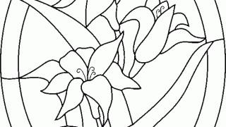 Witraż z lilii