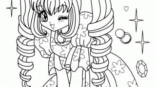 Anime Girl w sukni w kwiaty