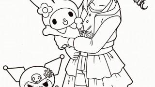 Anime Girl z króliczkiem