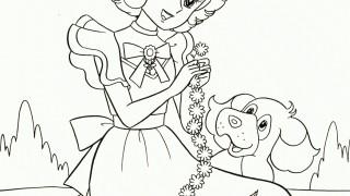 Anime Girl z pieskiem i kotkiem