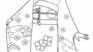 Japońska dziewczynka w kimono