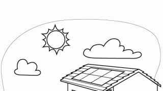 Solary na dachu.